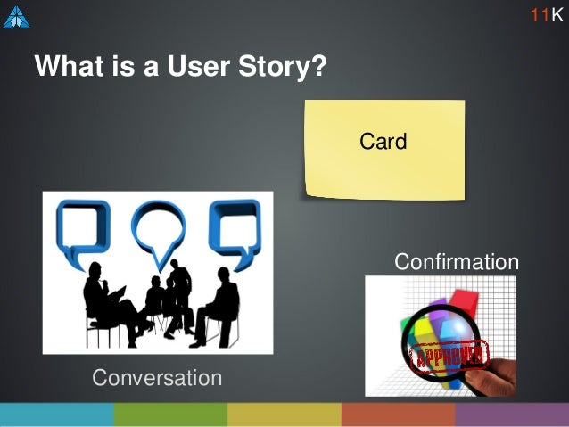 What is a User Story? Conversation Confirmation Card 11K