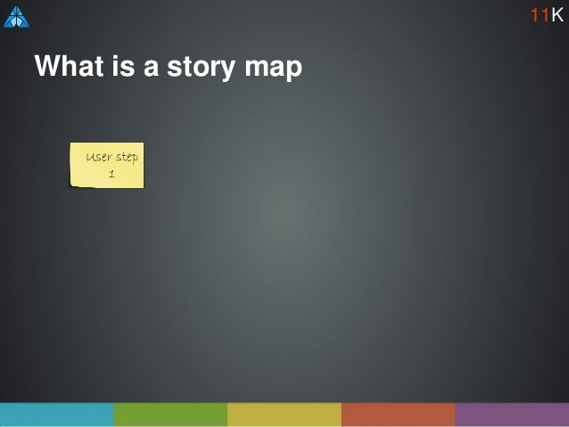 What is a story map User step 1 11K