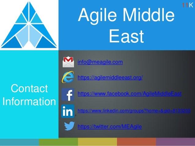 Agile Middle East info@meagile.com https://agilemiddleeast.org/ Contact Information https://www.facebook.com/AgileMiddleEa...