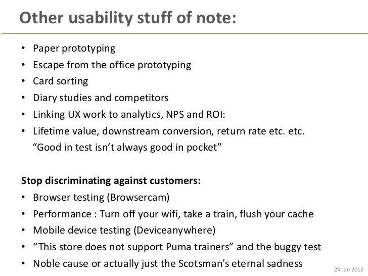 Lean UX and Optimisation - Userzoom : 24 jan 2012 - lean optimisation