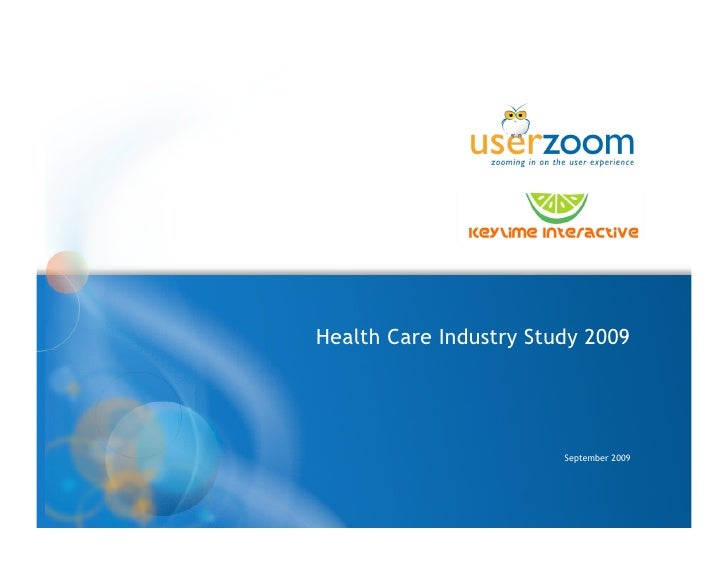 Health Care Industry Study 2009                             September 2009