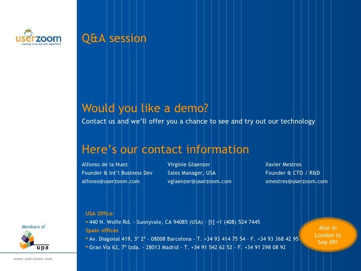 Would you like a demo? <ul><li>Contact us and we'll offer you a chance to see and try out our technology </li></ul>Alfonso...