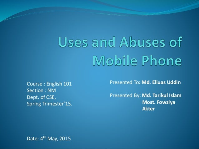 essay on uses and misuses of mobile phones in hindi