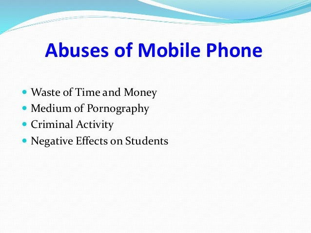 misuse of mobile phones by students