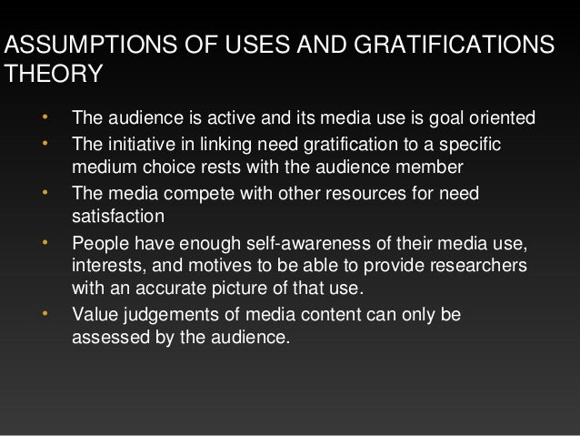 Uses and gratifications theory Slide 3