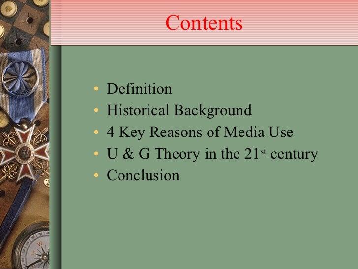 Uses and gratification theory-presentation Slide 3