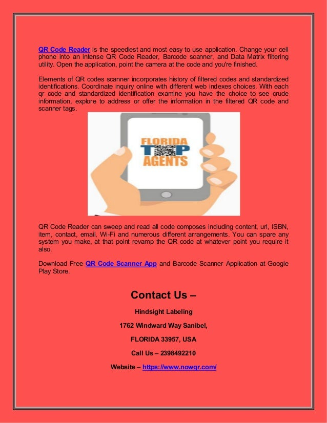 Use smart lable qr app for wi