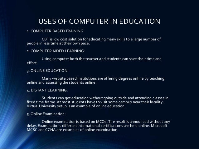 uses of computers essay