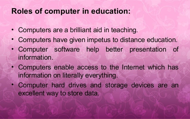uses of computer in schools and colleges