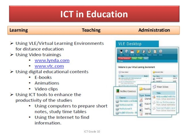 use of ict for education What additional resources are needed to support their use what transforming education: the power of ict policies transforming education.