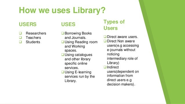 uses of library for students