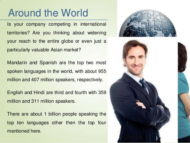 Use The Language Of The World To Make Your Business Money - Top international languages in the world