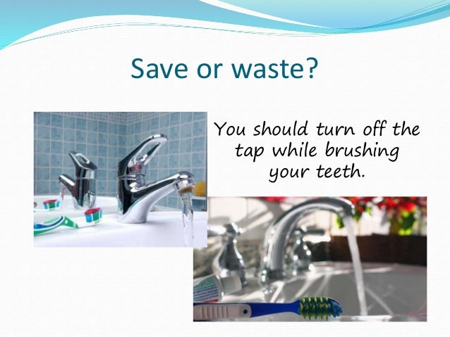 use water wisely presentation