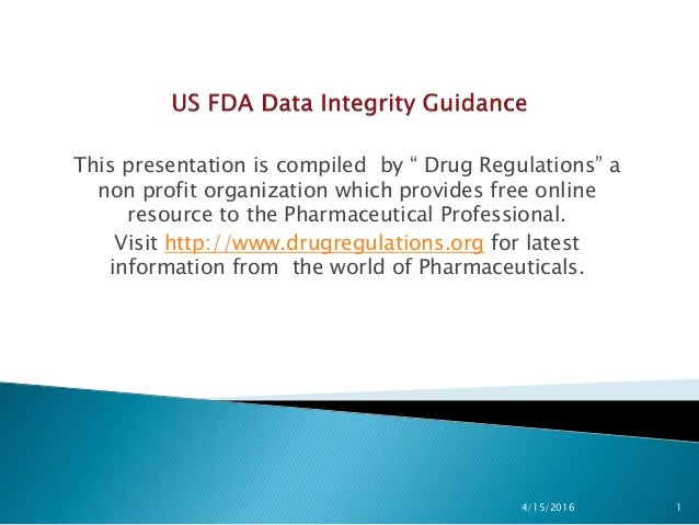 """This presentation is compiled by """" Drug Regulations"""" a non profit organization which provides free online resource to the ..."""