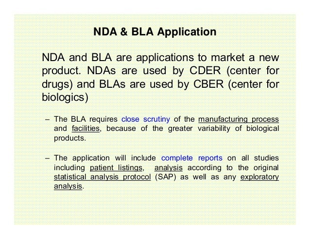 Biologics license application fdating