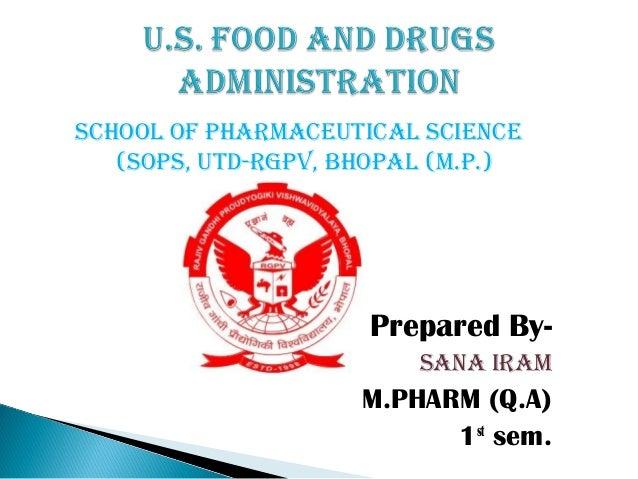 school of pharmaceutical science (sops, utd-rgpv, Bhopal (m.p.)  Prepared Bysana iram  M.PHARM (Q.A) 1st sem.