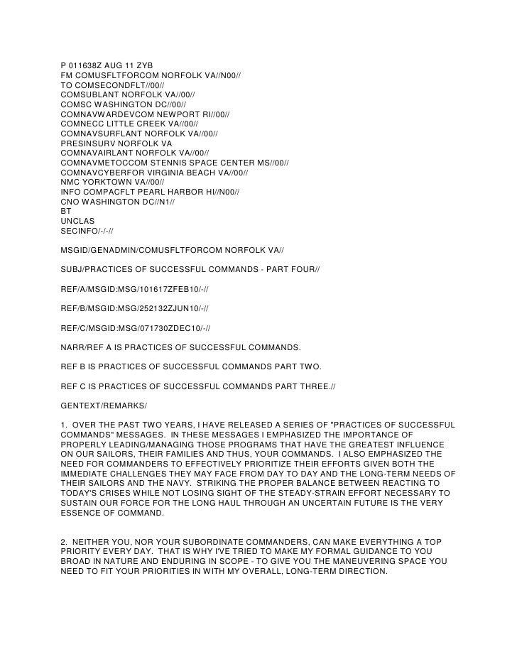 P 011638Z AUG 11 ZYBFM COMUSFLTFORCOM NORFOLK VA//N00//TO COMSECONDFLT//00//COMSUBLANT NORFOLK VA//00//COMSC WASHINGTON DC...