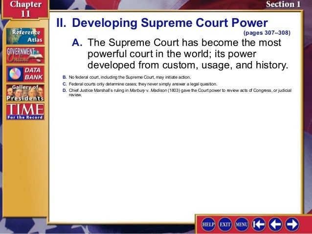 an analysis of the marbury versus madison trial in the united states supreme court of justice Marbury vs madison, analysis v madison was a united states supreme court case in which the court marbury, who was the justice of.