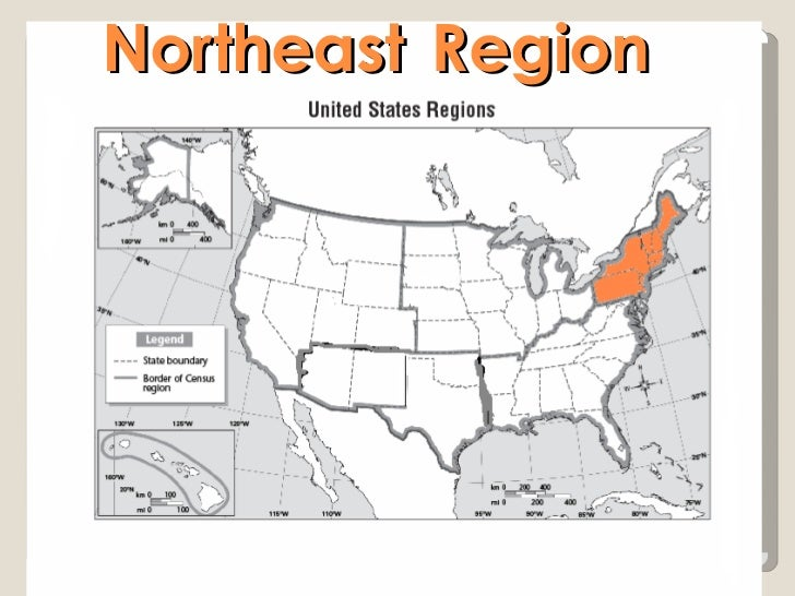 US Geography Powerpoint - Map of northeast us bodies of water
