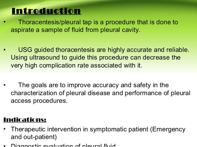 USG Guided Thoracentesis