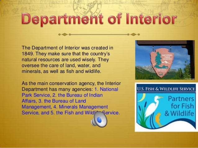 12. The Department Of Interior Was Created ...