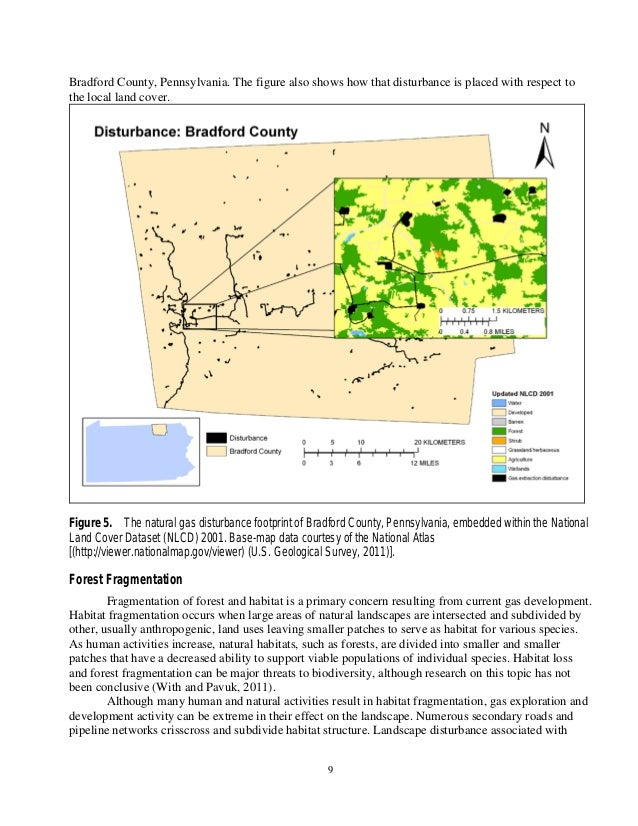 Usgs land use changes shale gas