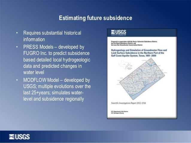 Groundwater Level and Subsidence in the Texas Gulf Coast