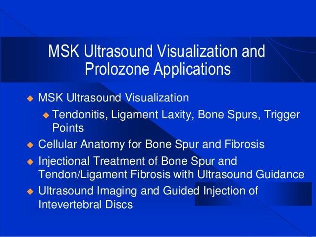 Msk Ultrasound Imaging For Prolozone Applications Aspen