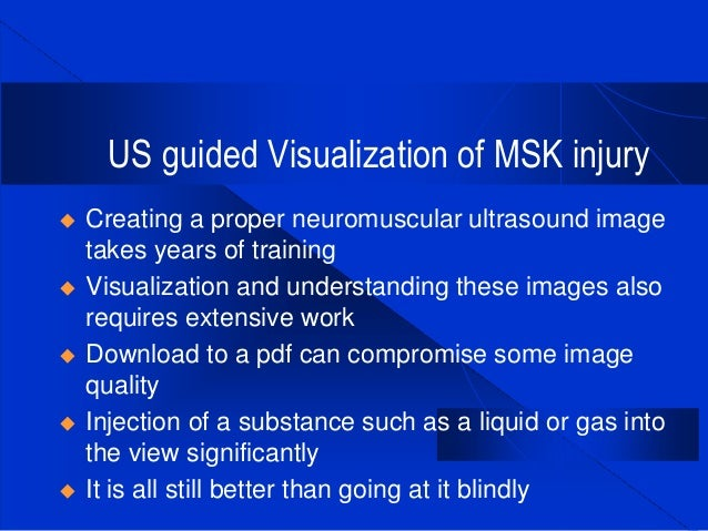 MSK Ultrasound Imaging for Prolozone Applications - Aspen ...