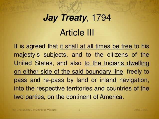 Image result for Jay Treaty article 3