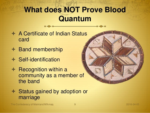 degree of indian blood chart