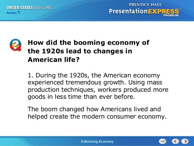 changes of america in the 1920s The 1920s was a decade of profound social changes the most obvious signs of change were the rise of a consumer-oriented economy and of mass entertainment, which helped to bring about a revolution in morals and manners.