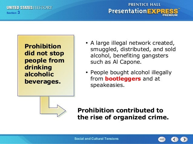 the prohibition amendment essay In the late 1800's the 18th amendment was created this began the prohibition era this meant that the production, sell, and consumption of alcoholic produ.