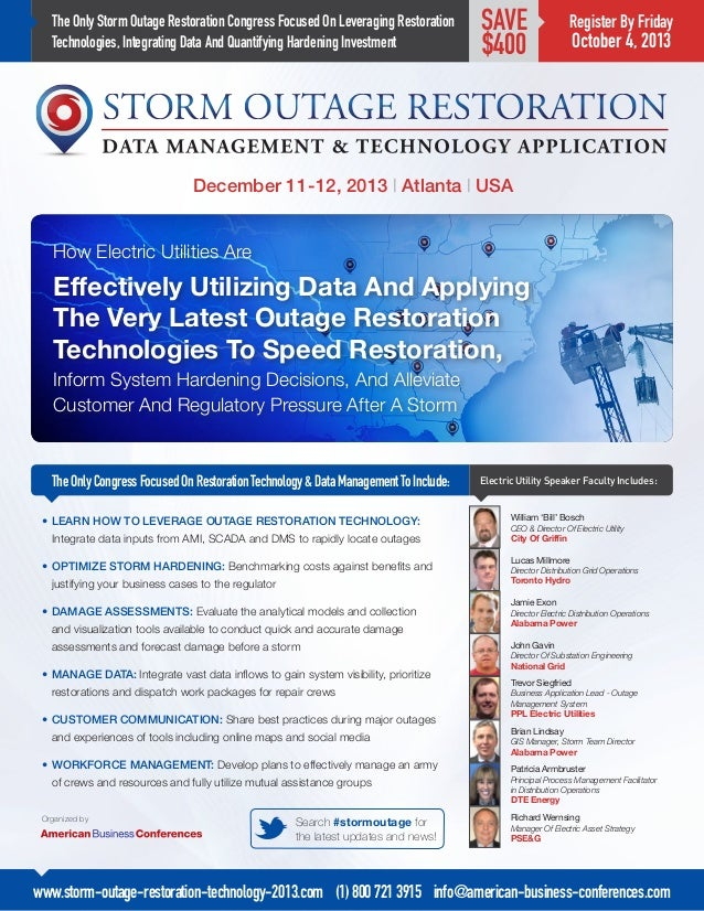 How Electric Utilities Are Effectively Utilizing Data And Applying The Very Latest Outage Restoration Technologies To Spee...