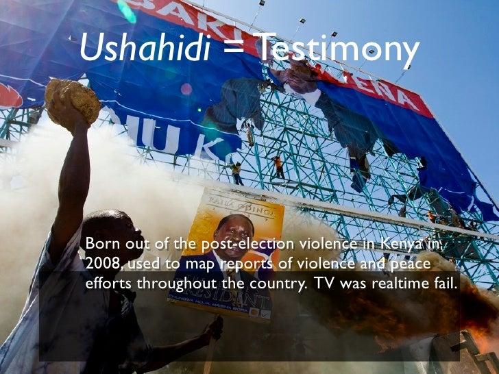 Ushahidi esri juliana Slide 3