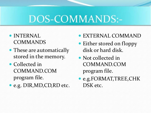 Cmd Commands Project