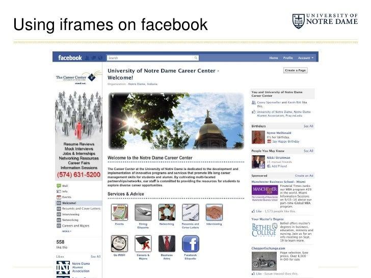 Using iframes on facebook<br />