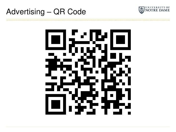 Advertising – QR Code<br />