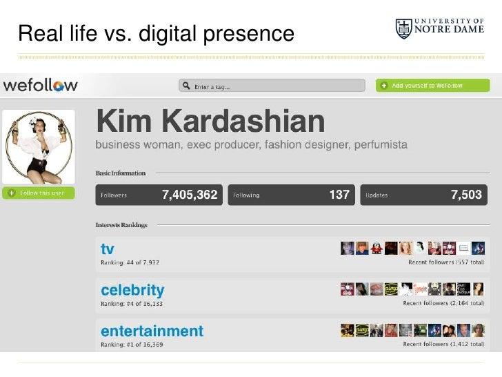 Real life vs. digital presence<br />