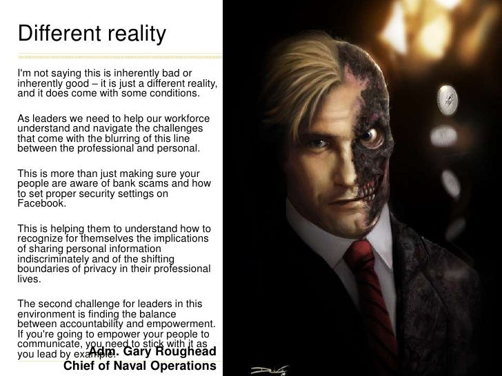 Different reality<br />I'm not saying this is inherently bad or inherently good – it is just a different reality, and it d...
