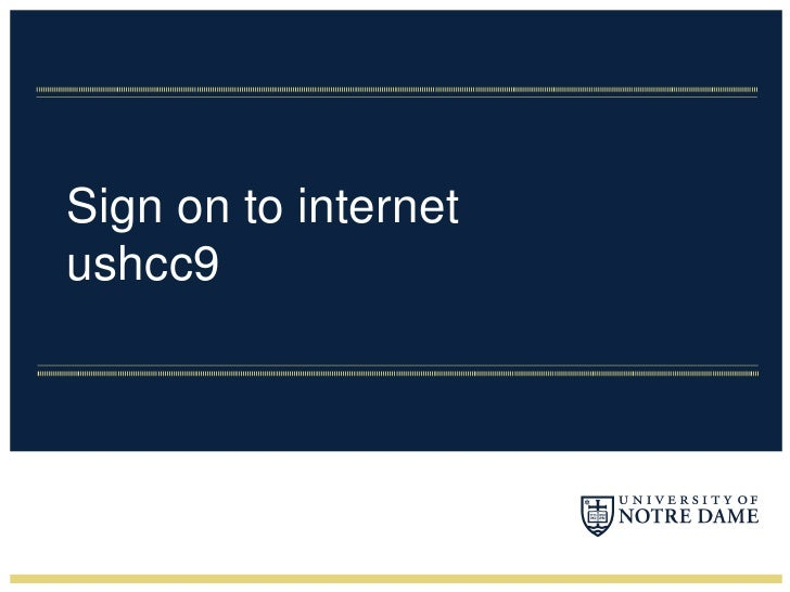 Sign on to internetushcc9<br />