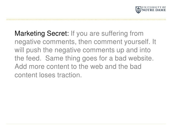 Marketing Secret: If you are suffering from negative comments, then comment yourself. It will push the negative comments u...