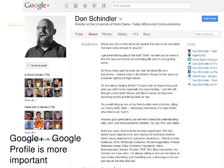 Google+ - Google Profile is more important<br />