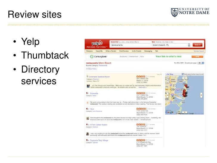 Review sites<br />Yelp<br />Thumbtack<br />Directory services<br />