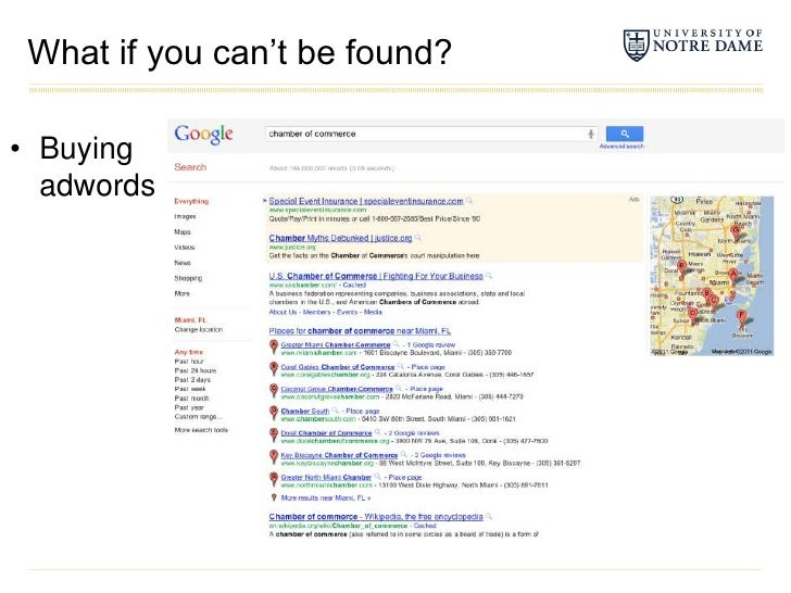 What if you can't be found?<br />Buying adwords<br />