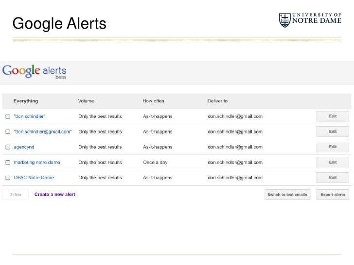 Google Alerts<br />
