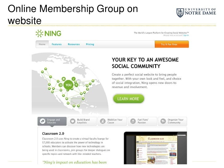 Online Membership Group on website<br />