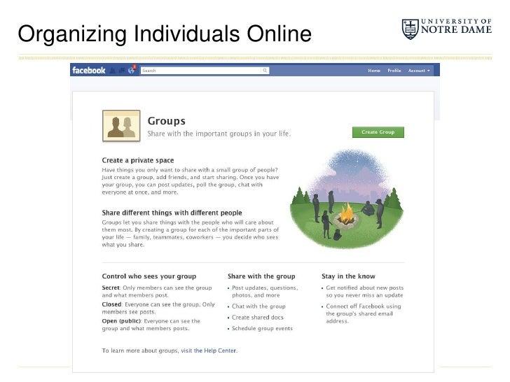 Organizing Individuals Online<br />