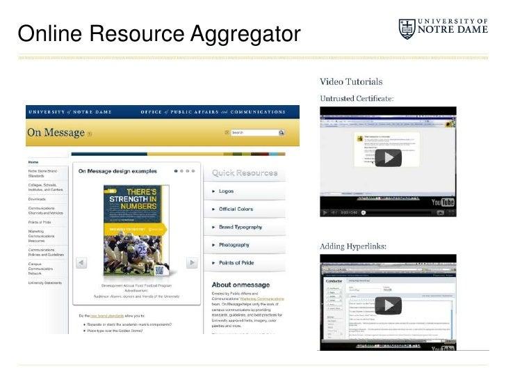 Online Resource Aggregator<br />