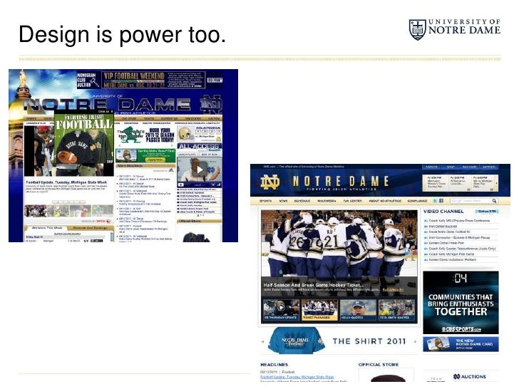 Design is power too.<br />